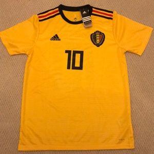 e16346069 adidas Shirts - Eden Hazard Belgium World Cup 2018 Away Jersey